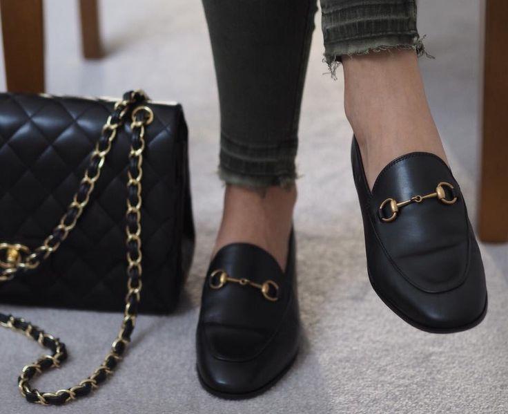 2d4a6ecd0a94af5eabebded11e18d158 Gucci Chaussures  : Gucci Jordaan mocassins et classique chanel