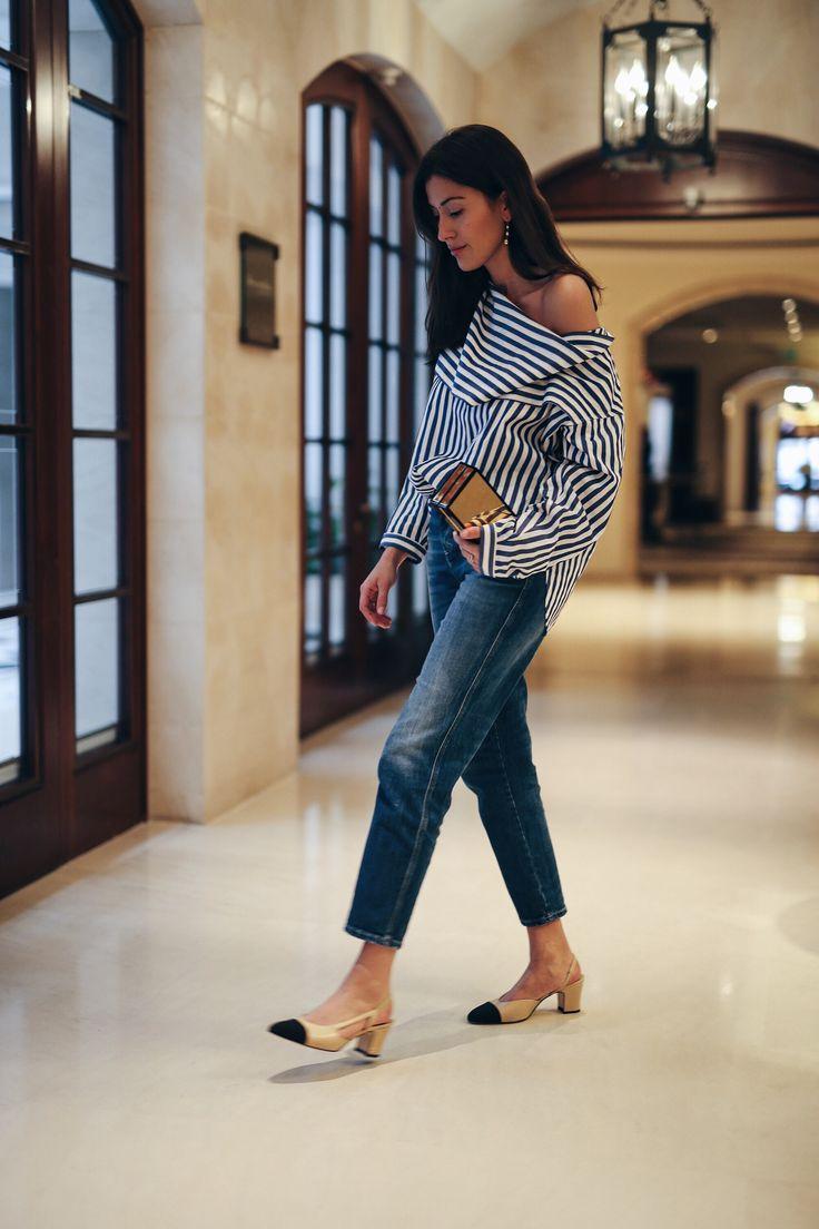 e7555e0217697b9d93af03affb3406dc--striped-blouses-striped-shirts Chaussure CHANEL : Tendance Chaussures Céline Stripes  