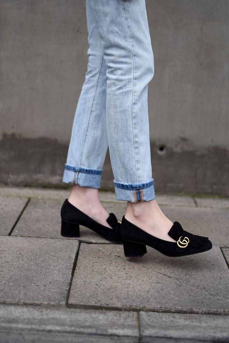 f53c2858f7bfae373215305904f0cdf3--gucci-loafers-gucci-shoes Collection Gucci Chaussures & Sacs : Gucci Suede Mid Heel Pump - Coup de la rue