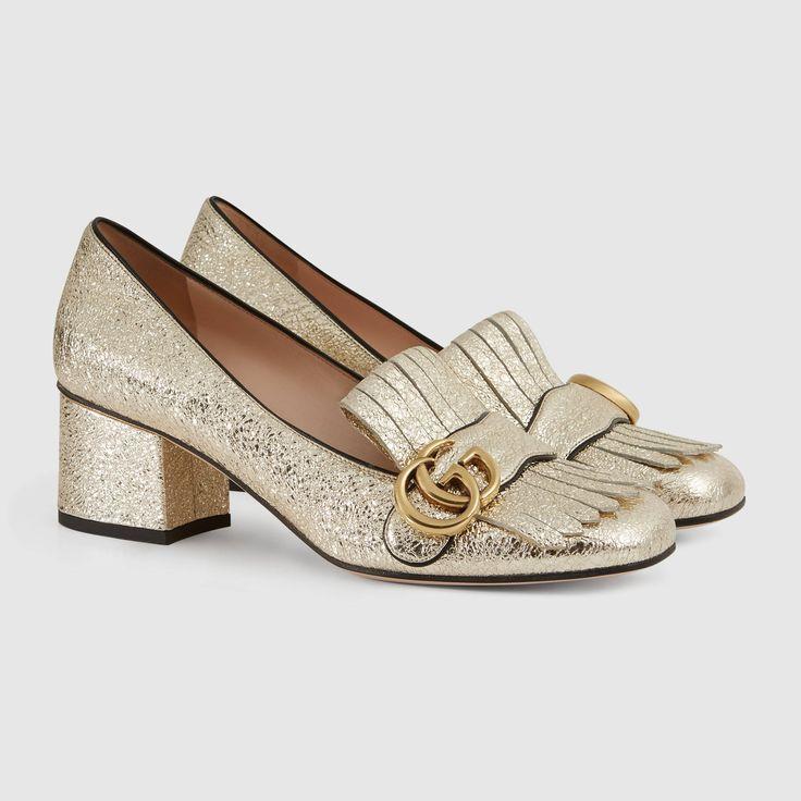 eeb92d1917 3c1b68c8987a6ab80c4fe0e430ff16ee--gucci-marmont-pump-metallic-pumps Gucci  Chaussures : Gucci