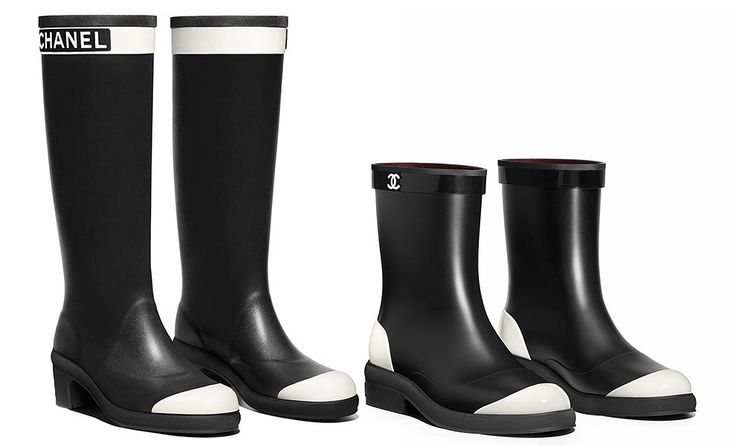 51ca4afaf3c4d2ecafe333a04ba8f5e9 Chaussure CHANEL  Things of the day  rubber boots and boots Chanel