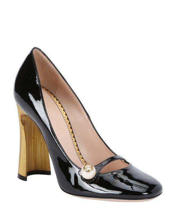 5c4a795b7bbceac6630835b2d4f5b57c--black-patent-leather-shoes-black-pumps Gucci Chaussures  : pompes noires en cuir verni noir