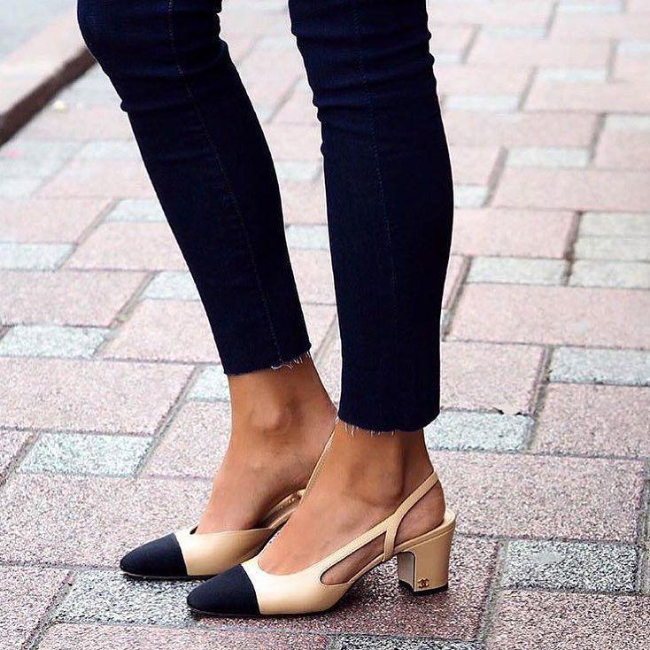 e1844d38fa75aa308df7fa050cb87854--expensive-shoes-fancy-shoes Chaussure CHANEL : Chanel Slingbacks
