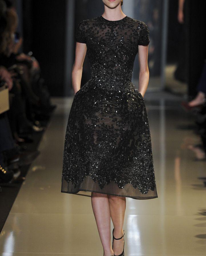 4771520b6c90f4dacb2e13b5b42486fc--little-black-dresses-black-lace-dresses Collection Elie Saab  : Elie Saab Printemps 2013 Couture
