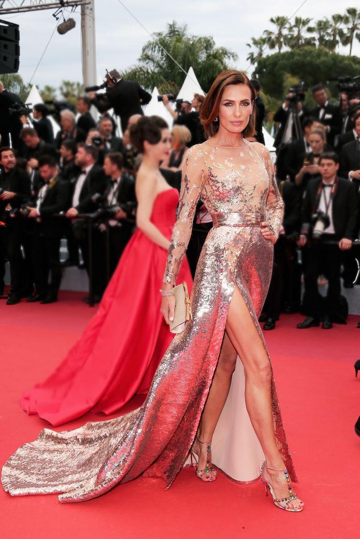 ef0c417f409240880b35131b4176a481 Elie Saab - Collection Tapis Rouge  : Nieves Alvarez dans ELIE SAAB Haute Couture Printemps Eté 2019 lors de la ...