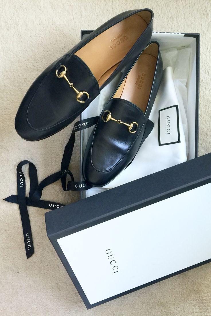 b2b85502cf4066877afc0419fd32e48e Gucci Chaussures  : Mocassins noirs Gucci Jordaan. Les appartements parfaits. Gucci chaussures Gucci glisse. Guc ...