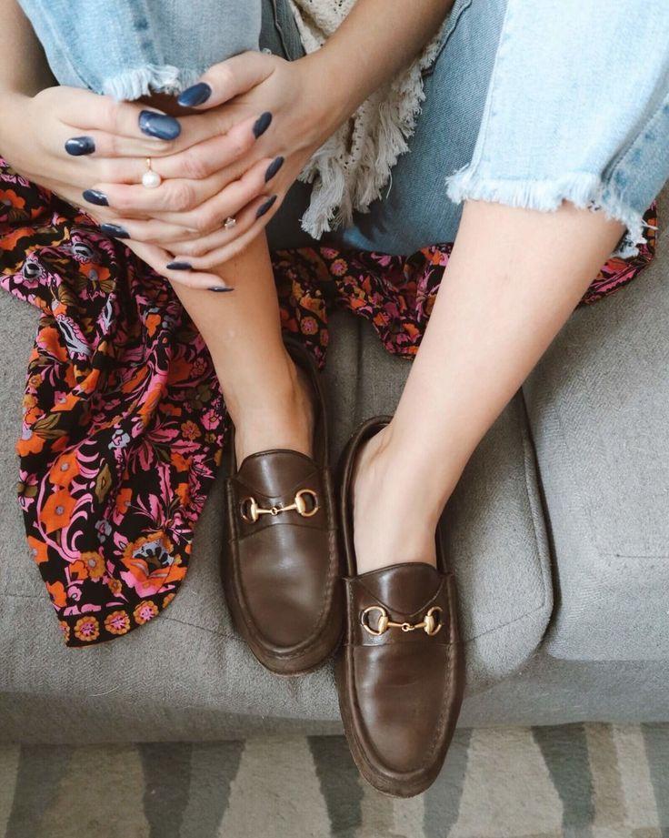 07f2419e8ebe13f80d9b98a0807b6df6 Gucci Chaussures  : Score d'épargne de mocassins Vintage Gucci. Savers friperie. Comment économiser vintage l ...