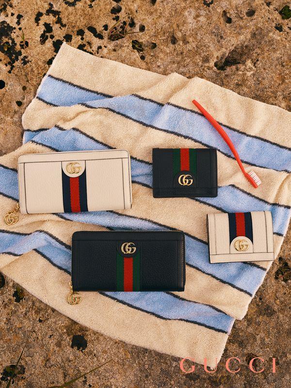 7fc77a7c1a50de26eaca423cc2908496 Collection Gucci Chaussures & Sacs : Portefeuille zippé Gucci Ophidia