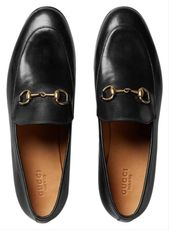 a7e508d5dfc14e3c4816f79c77525f0f Gucci Chaussures  : Gucci | Black Bm Women's Jordaan Leather Loafers Flats Size Eu 41 (Appro