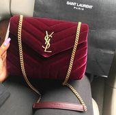 b5ddebff3f546f8713d49cab6e26d283 Yves Saint Laurent bag : Yves Saint Laurent loulou mini bag velvet bordeaux