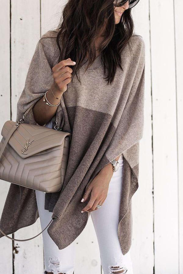 32d634fed2f80590fb163a22af8db33c Yves Saint Laurent bag : A Stylish Loose Shawl Sweater