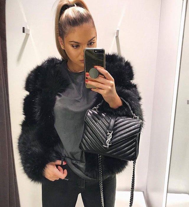 dc0aa8c66c55a2f4d86ec89fa8bbe366 Yves Saint Laurent bag : Yves Saint Laurent college black bag
